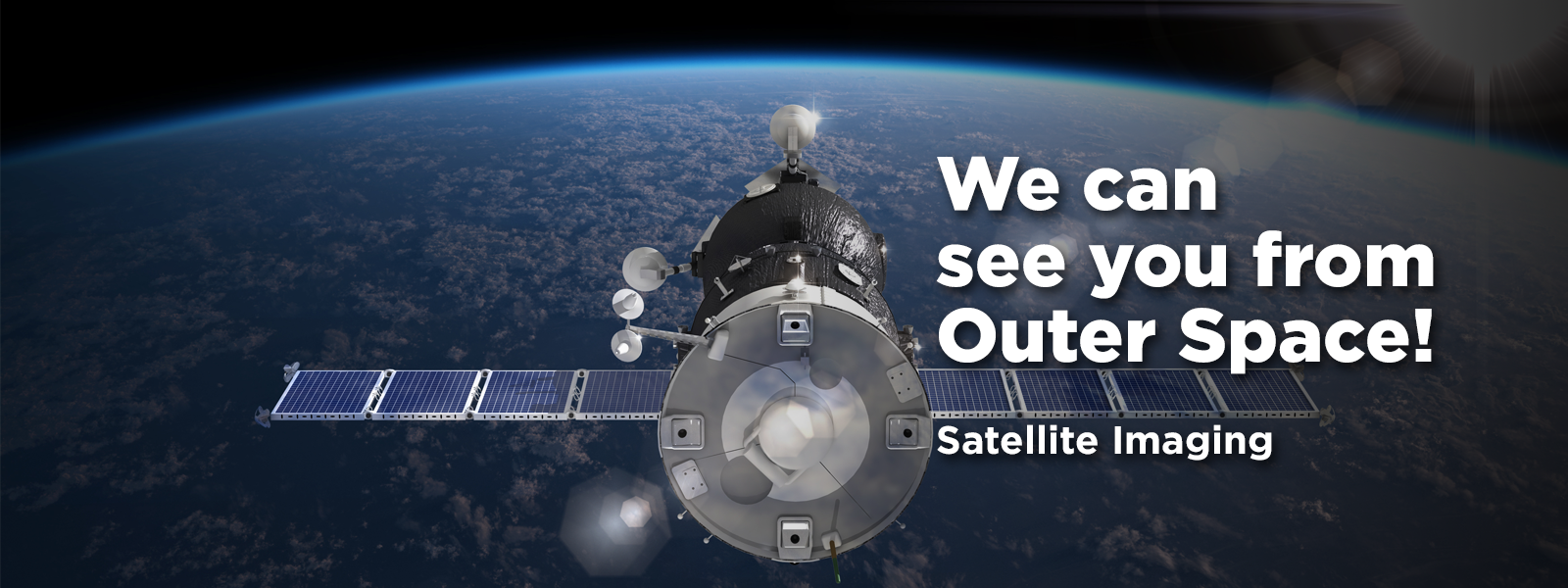 satellite hovers over earth