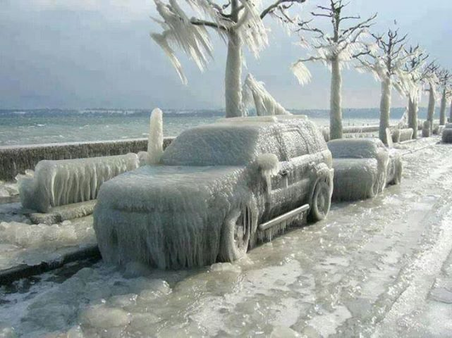 suv that has frozen over
