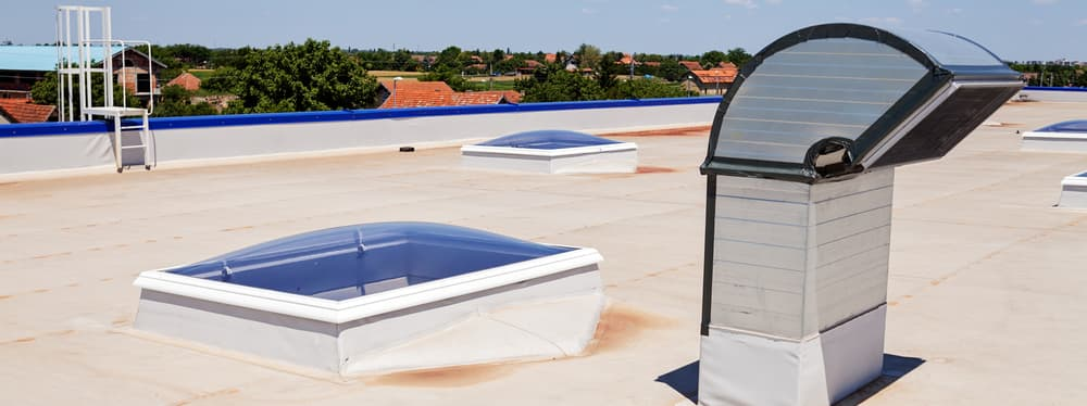 Flat Roof on Industrial Hall